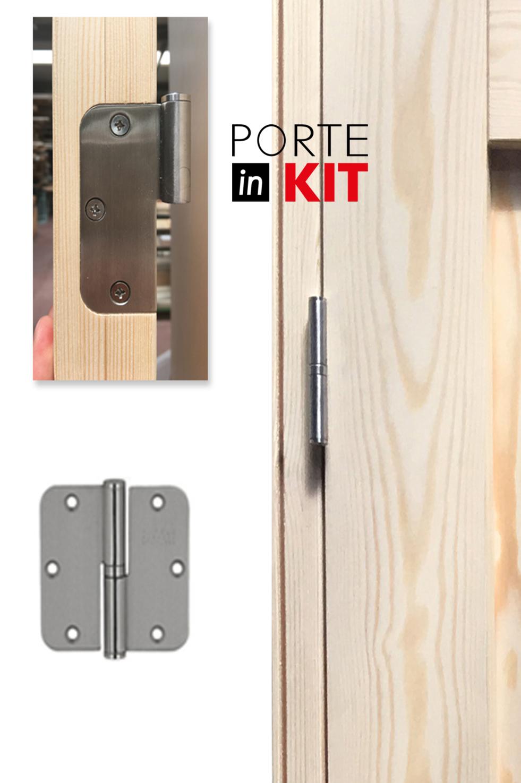 Porta interna in legno Massello di Pino apertura DX | 037DX Selene ...