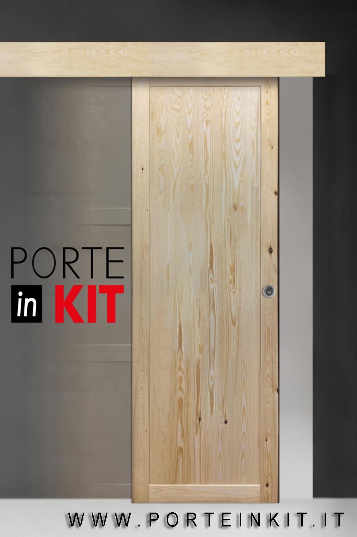 Porte grezze porta interna in legno massello di pino reversibile 039 rx selene sent grezza - Prezzo porta interna ...
