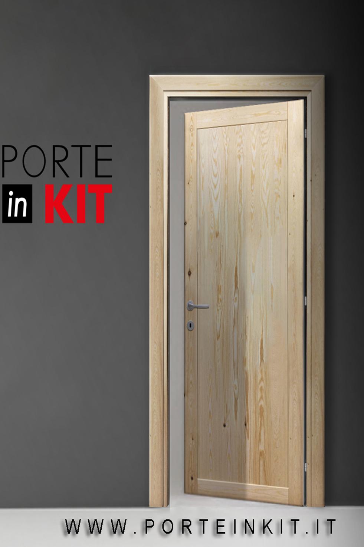 Porte Grezze : Porta interna in legno Massello di Pino apertura SX ...