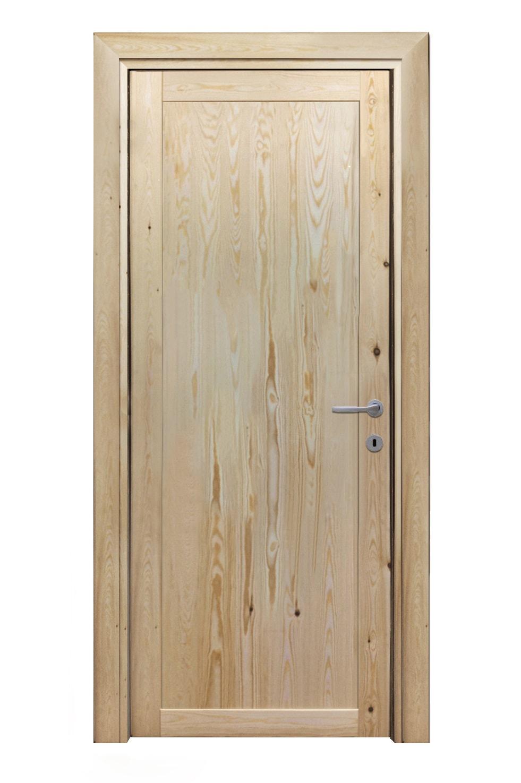 Porte grezze porta interna in legno massello di pino apertura sx 037sx selene bt grezza - Porta in legno massello ...
